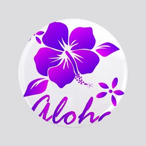 "Aloha Purple 3.5"" Button"