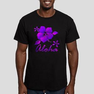 Aloha Purple Men's Fitted T-Shirt (dark)