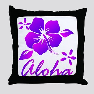 Aloha Purple Throw Pillow