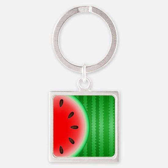 Watermelon Slice Square Keychain