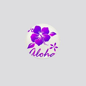 Aloha Purple Mini Button