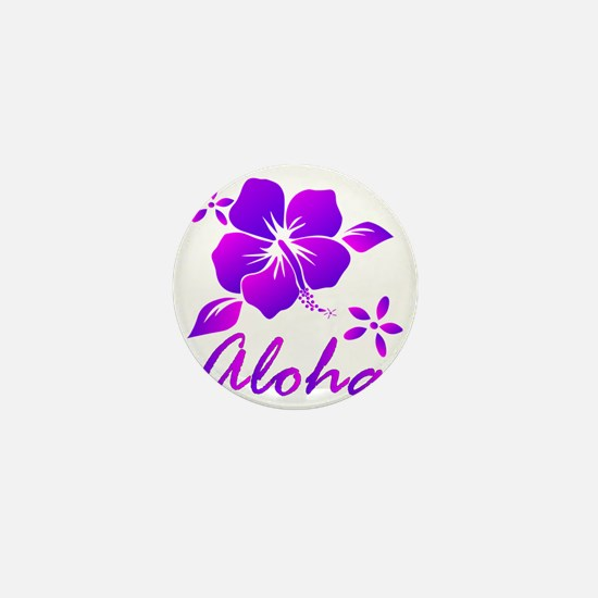 Aloha Purple Mini Button