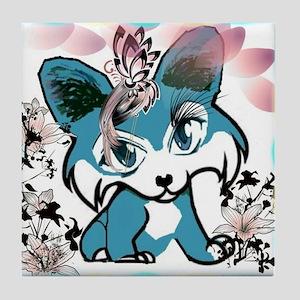 Corgi Cartoon Manga Tile Coaster
