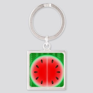 Watermelon Slice Square Keychain