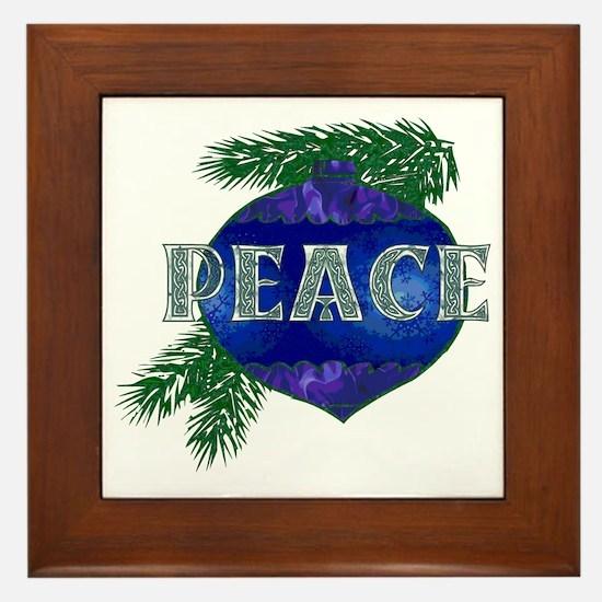 Christmas Peace Ornament Framed Tile
