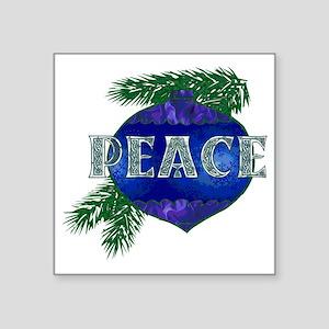 "Christmas Peace Ornament Square Sticker 3"" x 3"""