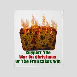 War On Christmas Fruitcake Throw Blanket
