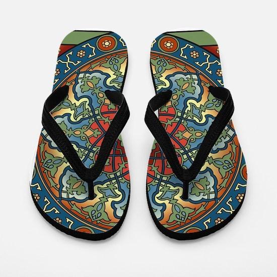 Persian Mandala Flip Flops