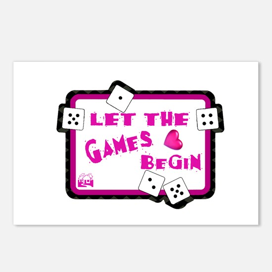 Let The Games Begin Bunco/Dice Postcards (Package