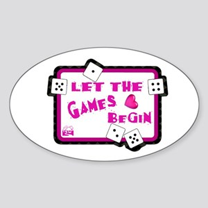 Let The Games Begin Bunco/Dice Oval Sticker