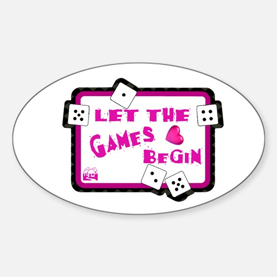 Let The Games Begin Bunco/Dice Oval Decal