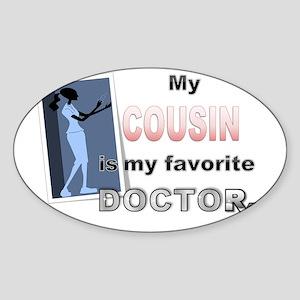 My Cousin Sticker (Oval)