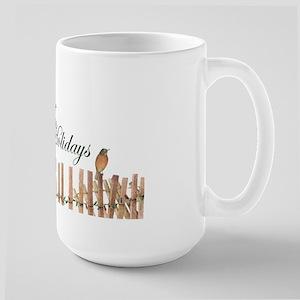 Ginger-Bird Holiday Large Mug