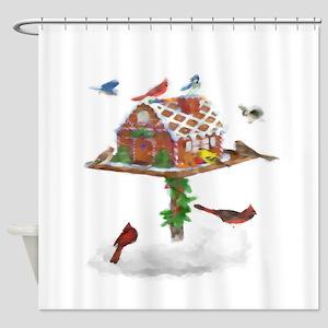 Ginger-Bird Shower Curtain