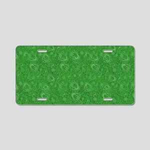 Green Swirling Paisley Patt Aluminum License Plate