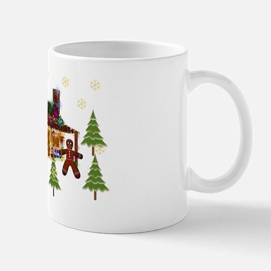 Gingerbread Sparkly Cabin Mug