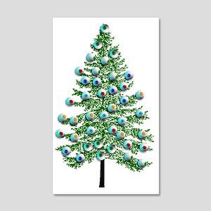 Eyeball Christmas Tree 35x21 Wall Decal