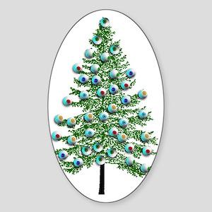 Eyeball Christmas Tree Sticker (Oval)