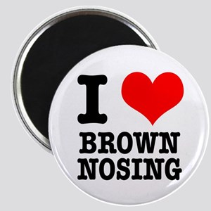 I Heart (Love) Brown Nosing Magnet