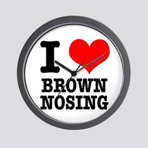 I Heart (Love) Brown Nosing Wall Clock