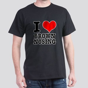 I Heart (Love) Brown Nosing Dark T-Shirt