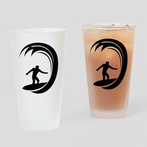 tribal surfing design Drinking Glass