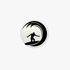 tribal surfing design Mini Button