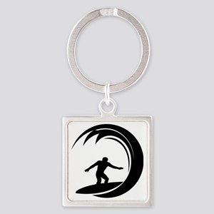 tribal surfing design Square Keychain