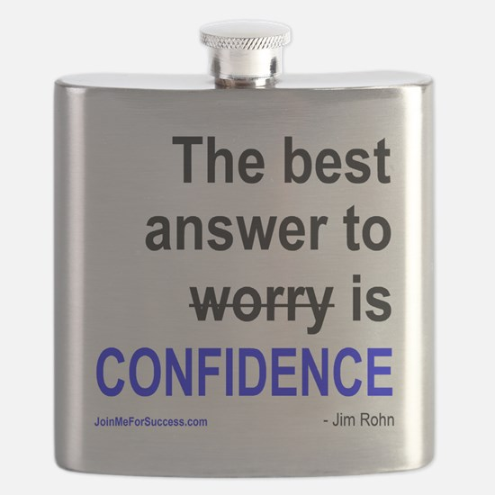 The best answer to worry is confidence. Flask