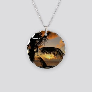 Sunset North Shore Oahu Necklace Circle Charm