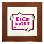 Dice Night Framed Tile