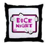 Dice Night Throw Pillow