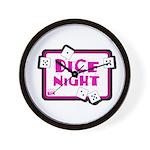 Dice Night Wall Clock