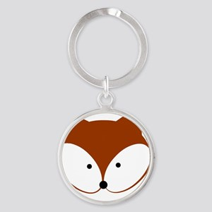 Curious Fox Round Keychain