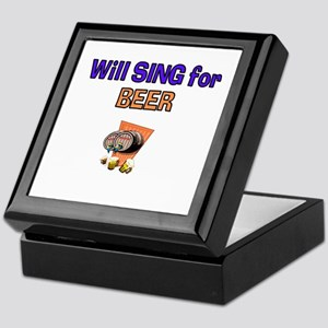 Will Sing for Beer Keepsake Box
