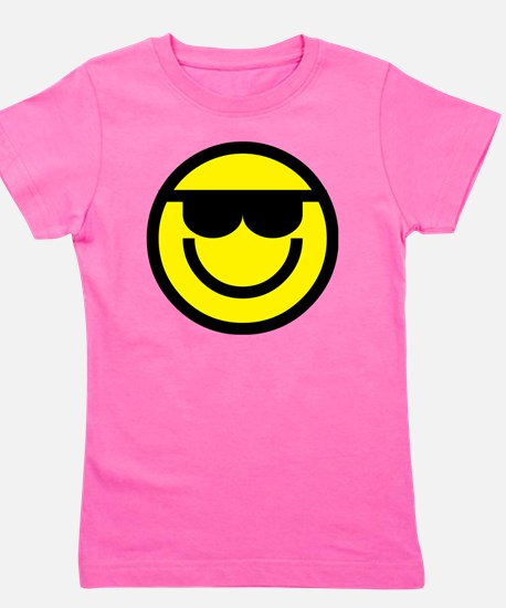cool dude emoticon Girl's Tee