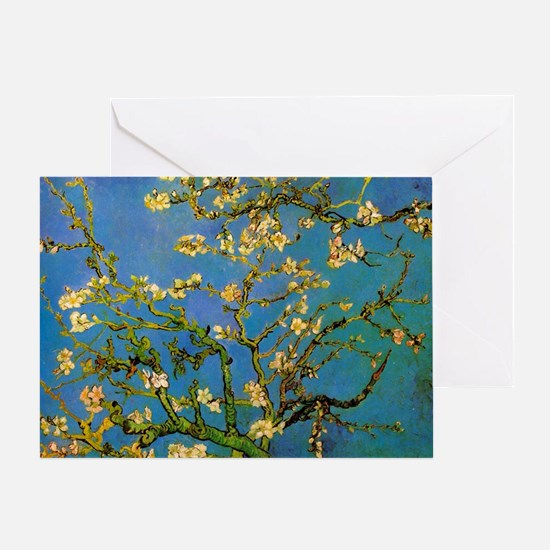 Blossoming Almond Tree by Vincent va Greeting Card