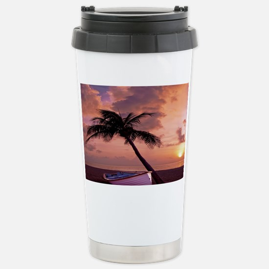 Beach Sunset FlippFF Stainless Steel Travel Mug