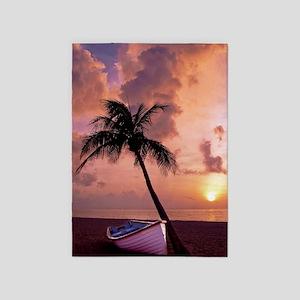 Beach Sunset 5'x7'Area Rug