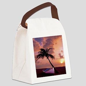 Beach Sunset4799SQ Canvas Lunch Bag