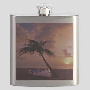 Beach Sunset4799SQ Flask