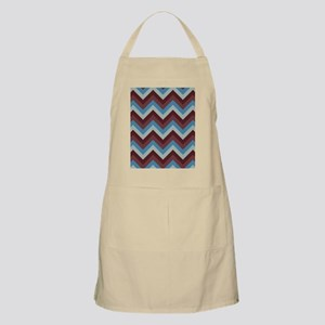 Modern blue and brown  chevrons Apron