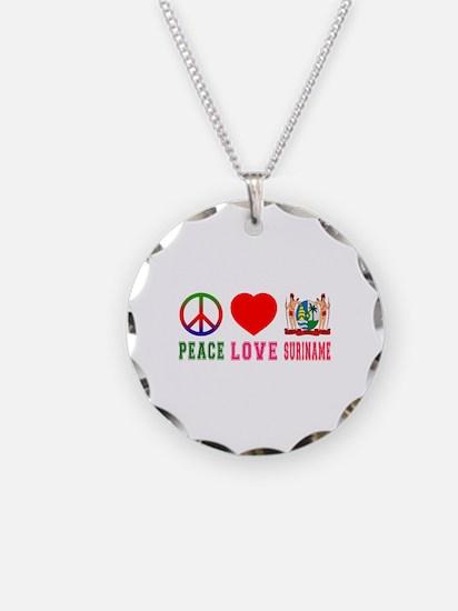 Peace Love Suriname Necklace
