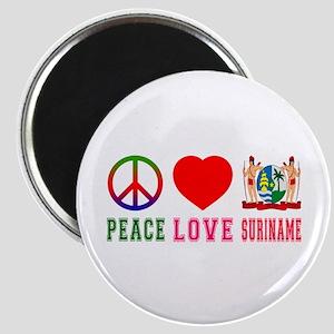 Peace Love Suriname Magnet