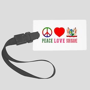 Peace Love Suriname Large Luggage Tag