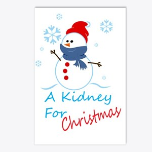 A Kidney For Christmas Postcards (Package of 8)