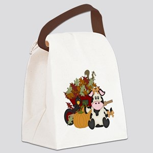 Fall design with Autumn  leaves Canvas Lunch Bag
