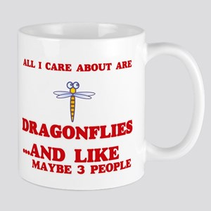 All I care about are Dragonflies Mugs