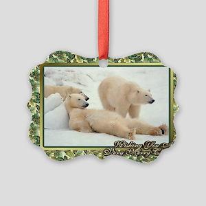 Polar Bear Christmas Card Picture Ornament