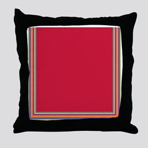 Stripes on red Throw Pillow